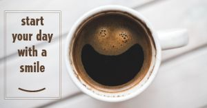 Coffee Smile Facebook Post