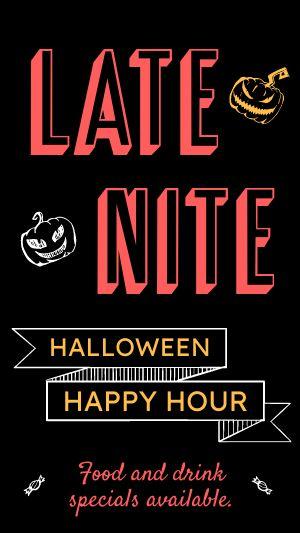 Halloween Happy Hour Facebook Story