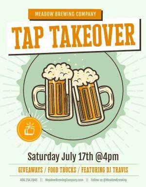 Tap Takeover Beer Flyer