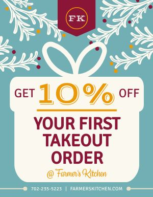 Takeout Discount Flyer