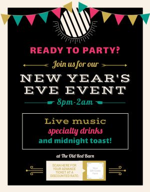 New Years Eve Event Signage