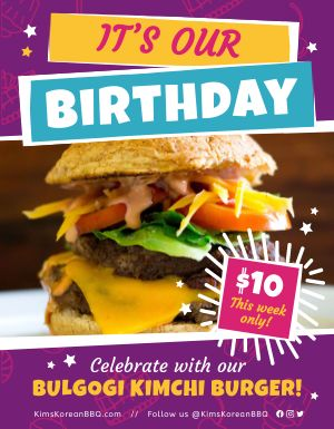 Restaurant Birthday Flyer