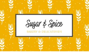 Bakery Cafe Business Card