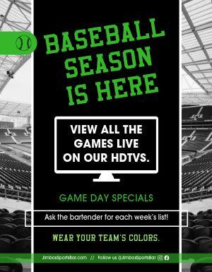 Baseball Bar Flyer