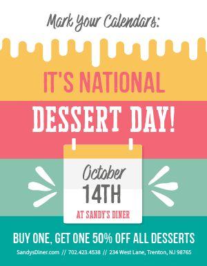 Dessert Ad Flyer