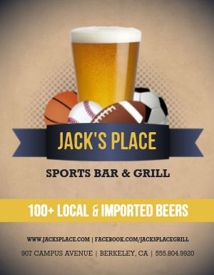 College Sports Bar Flyer