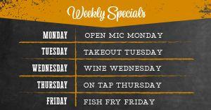 Weekly Specials FB Post