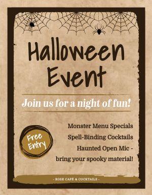Halloween Event Sign