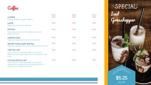 Breakfast Coffee Digital Menu Board