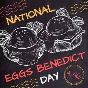 Eggs Benedict Instagram Post