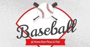 Pizza Baseball Facebook Post