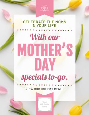 Mothers Day Specials Sign