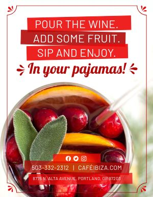 House Sangria Flyer