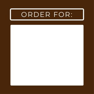 Order For To Go Label