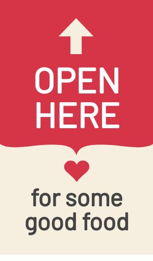 Open Here To Go Sticker