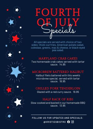 Fourth of July Tabletop Sign