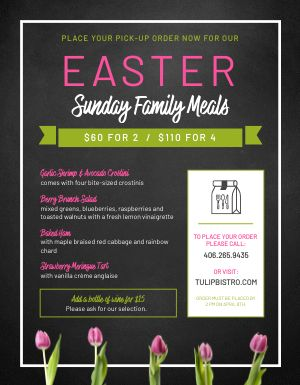 Easter Menu Example