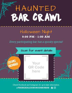 Haunted Bar Crawl Flyer