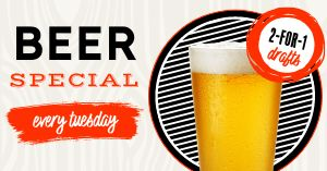 Beer Specials Facebook Post