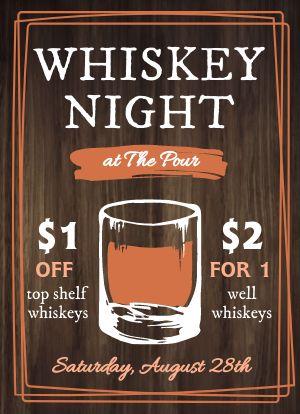 Whiskey Night Tabletop Insert