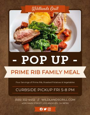 Popup Meal Flyer