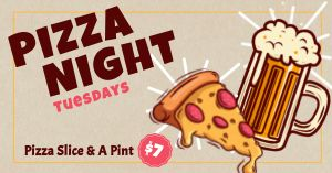 Pizza Night Facebook Update