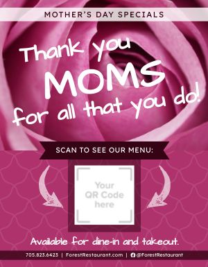 Mothers Day Specials Signage