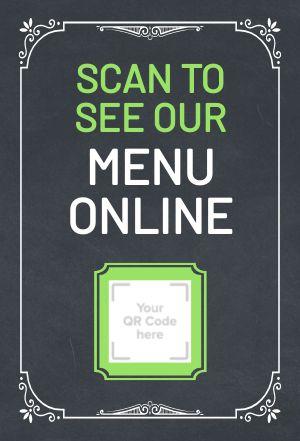 Menu Online Table Placard