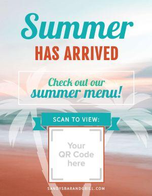 Summer Menu Sign