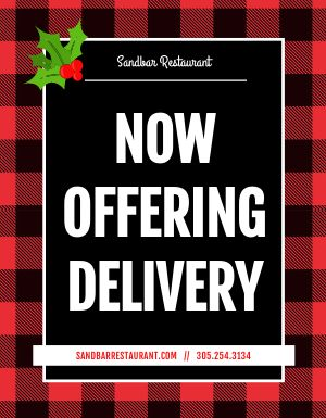Holiday Delivery Flyer