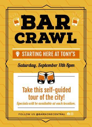 Bar Crawl Tabletop Insert