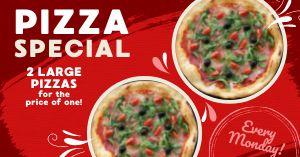 Pizza Special Facebook Post