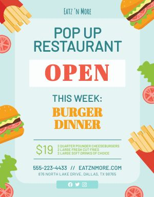 Popup Restaurant Flyer