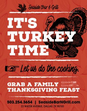 Turkey Dinner Flyer