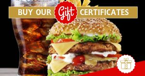 Burger Gift Certificate Facebook Post