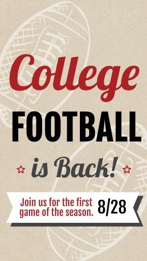 College Football Facebook Story