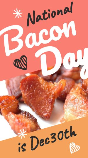 National Bacon Day Instagram Story