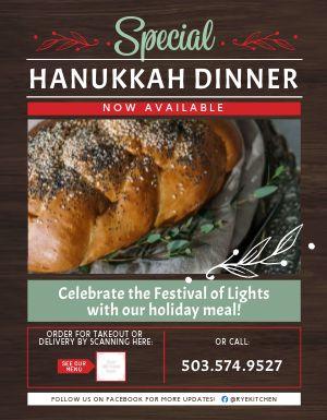 Hanukkah Dinner Signage