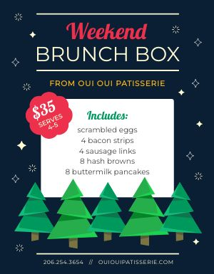 Holiday Brunch Box Flyer