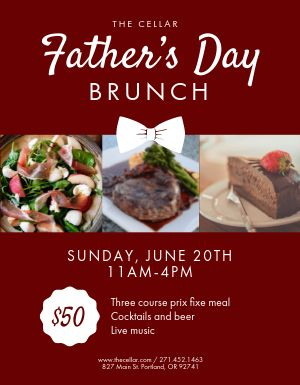 Fathers Day Brunch Flyer