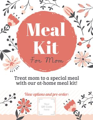 Mothers Day Meal Kit Sign
