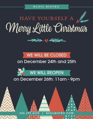 Christmas Hours Sign