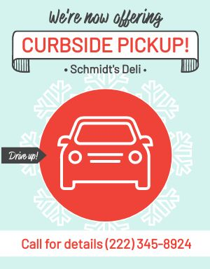Winter Curbside Pickup Flyer