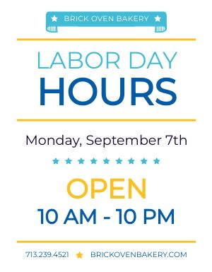 Labor Day Hours Signage