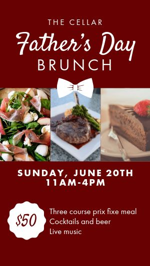 Fathers Day Brunch Instagram Story