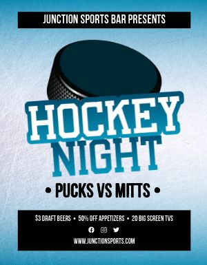 Hockey Bar Flyer