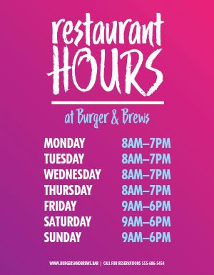 New Hours Flyer