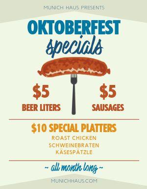Oktoberfest Specials Flyer