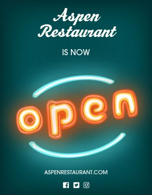 New Restaurant Open Flyer
