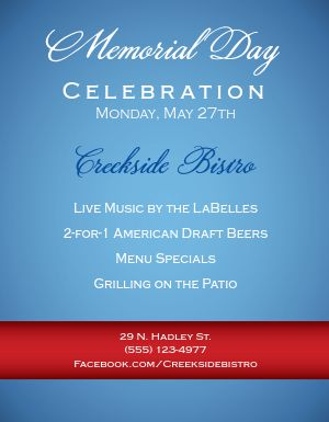 Memorial Day Celebration Flyer